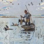 Frank Weston Benson (American, 1862-1951) Hunter Collecting his Quarry (Lot 270, Estimate: $80,000-120,000)