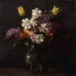 "Henri Fantin-Latour (French, 1836-1904), Fleurs, Signed ""Fantin"", dated ""Avril 1863"" (Lot 225, Estimate: $150,000-250,000)"