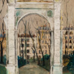 """Maurice Utrillo (French, 1883-1955), LArc de Parc Monceau, Signed """"Maurice.Utrillo.V."""" (Lot 359, Estimate: $50,000-70,000)"""
