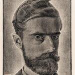 M.C. (Maurits Cornelis) Escher (Dutch, 1898-1972) Self Portrait, 1929 (Lot 10, Estimate: $600-800)