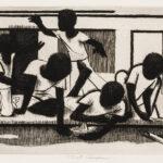 John Wilson (American, 1922-2015) Street Children, 1973 (Lot 91, Estimate: $1,200-1,800)