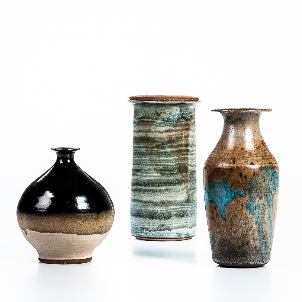 Three Pieces of William Wyman (American, 1922-1980) Studio Pottery (Estimate: $200-400)