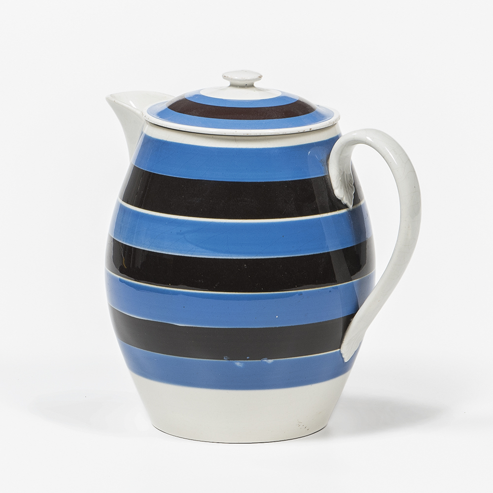 Striped Mocha Cider Jug with Cover