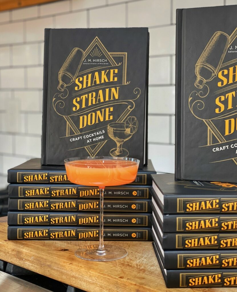 """Picture of the book """"Shake Strain Done: Craft Cocktails at Home"""""""