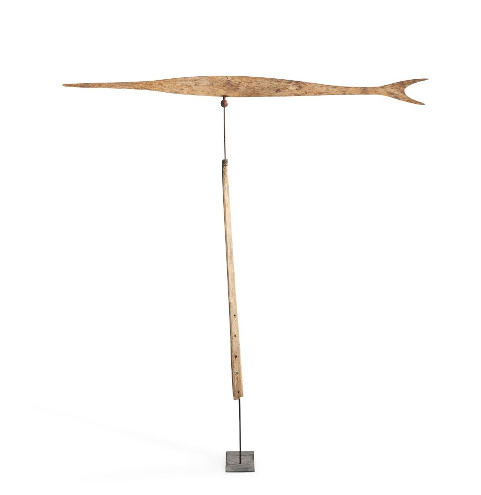 Carved Pine Swordfish Weathervane