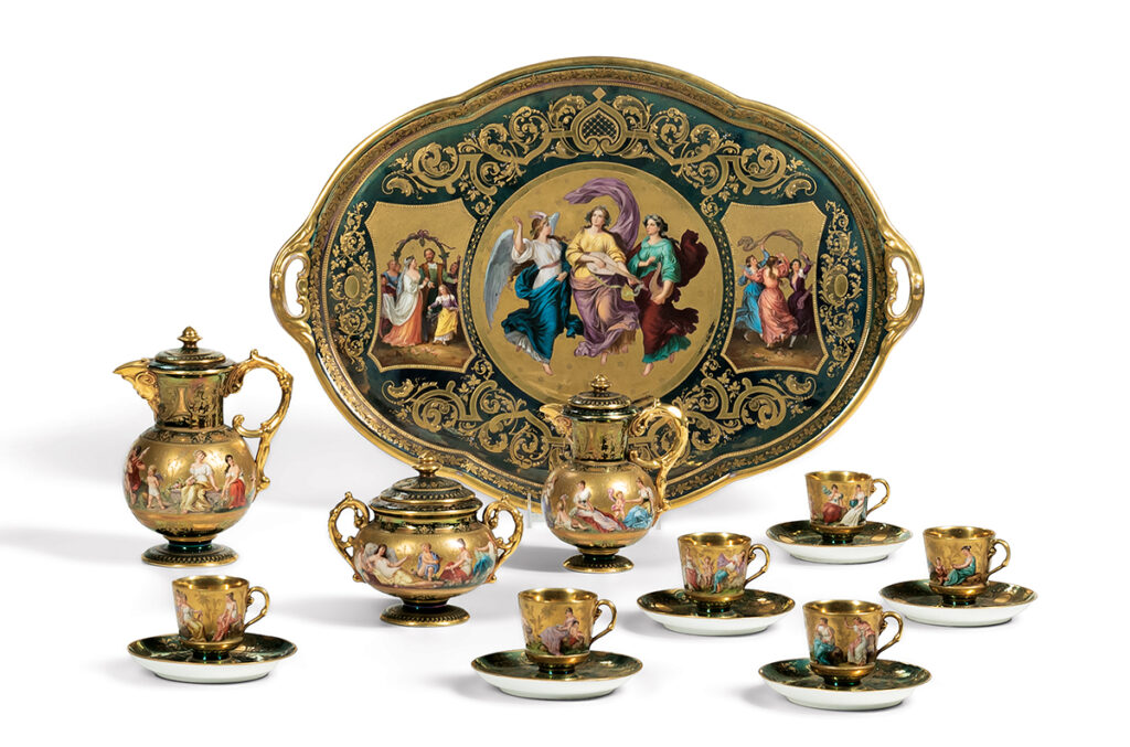 Royal Vienna Porcelain Tea Service with Tray