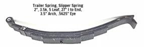 5 Leaf Slipper Spring 3.5k Cap. (7k Axles)