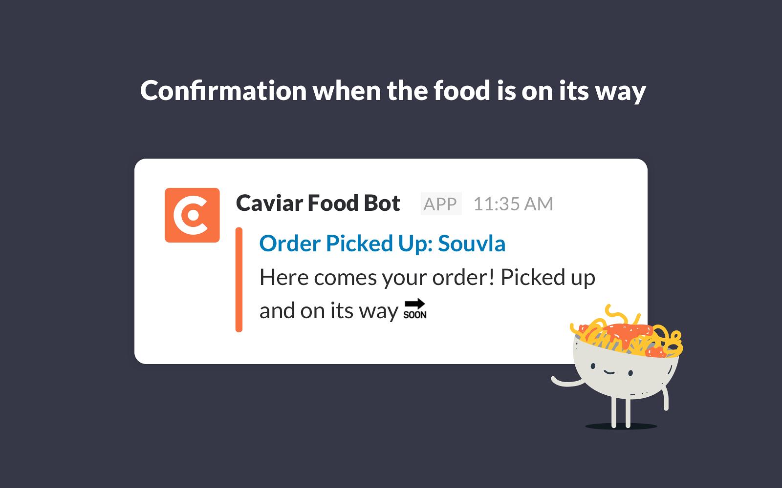 Caviar Food Bot | Slack App Directory