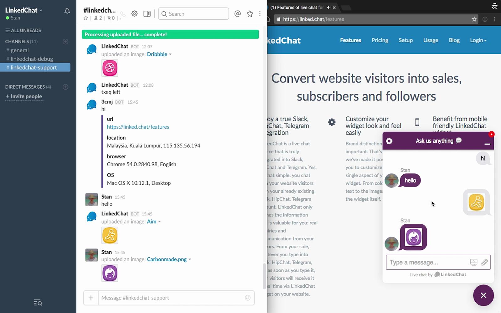 LinkedChat | Slack App Directory
