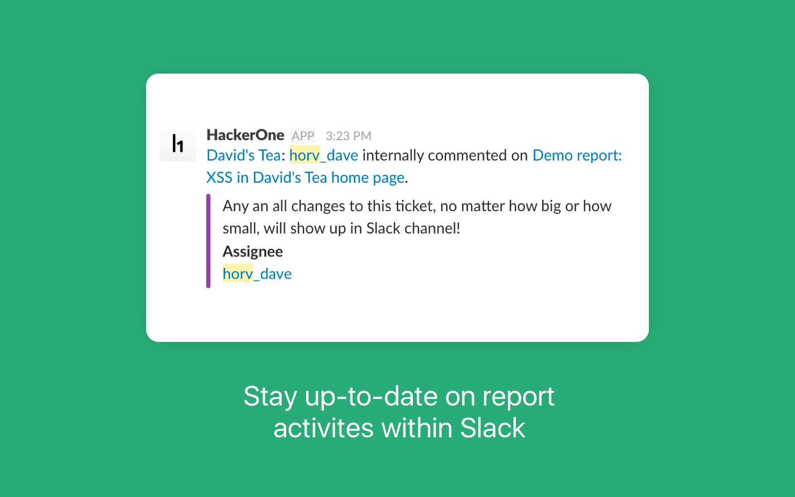 HackerOne   Slack App Directory