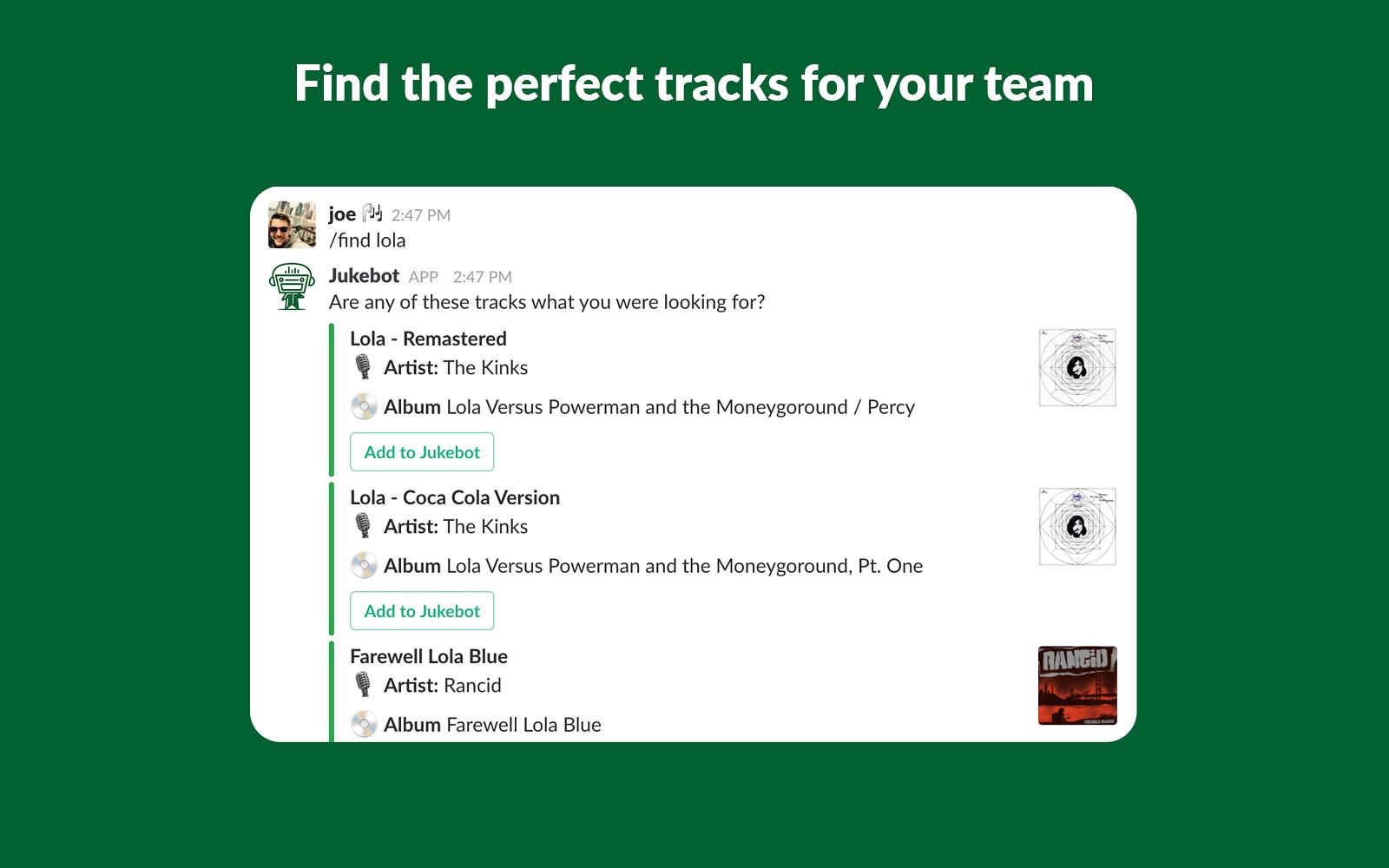 Jukebot | Slack App Directory