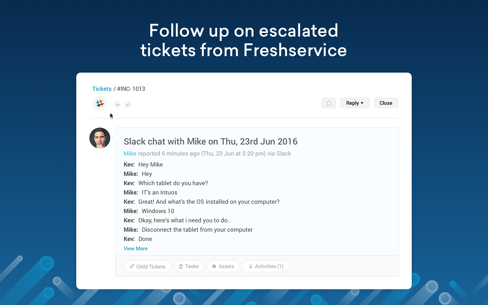 Convert Slack DM Conversations To Tickets In Freshservice 3. Add Slack  Conversation As Ticket Description For Context 4. Mark Slack Users As  Requesters And ...