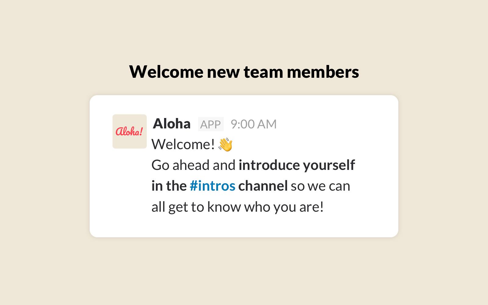 aloha slack app directory