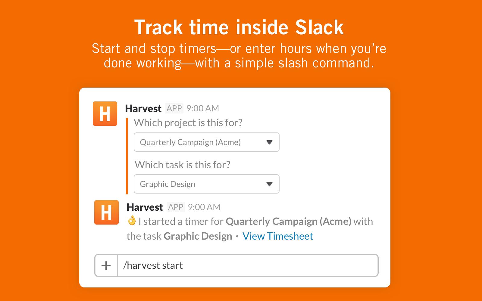 Harvest | Slack App Directory