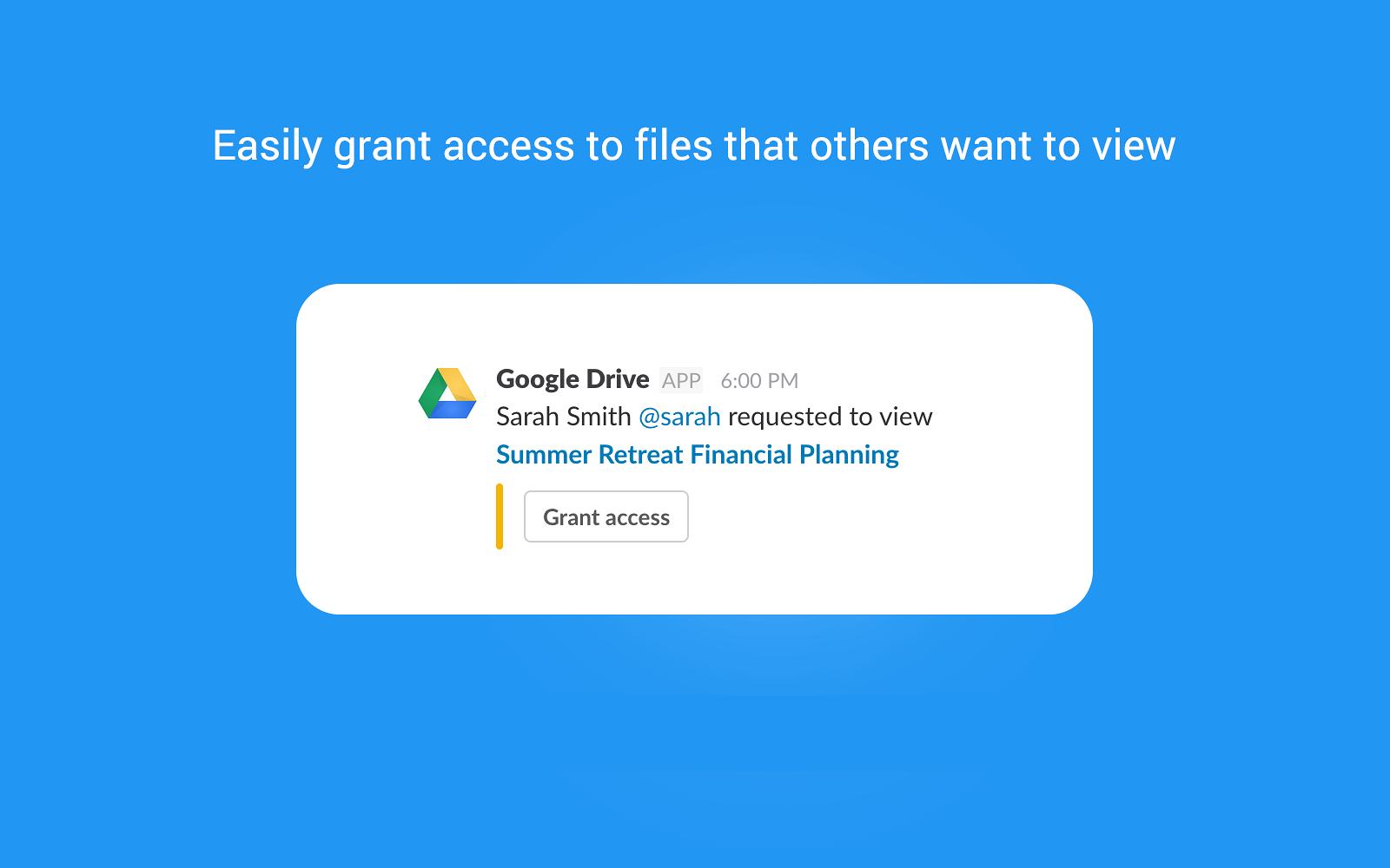 Google Drive | Slack App Directory