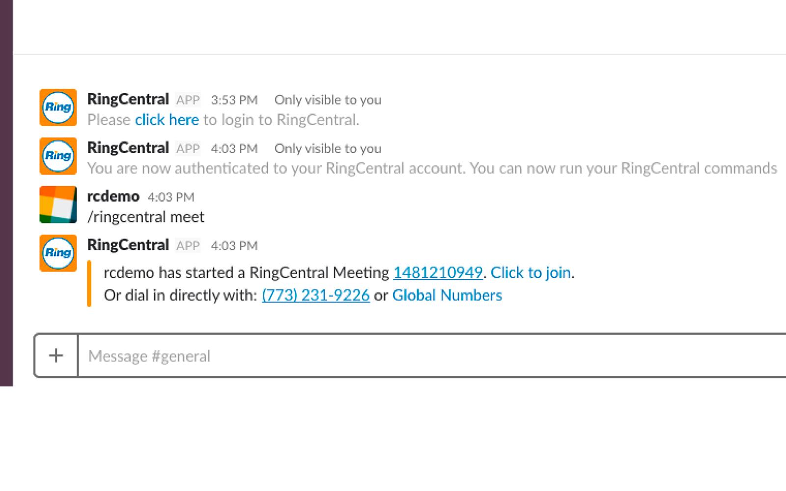 RingCentral | Slack App Directory