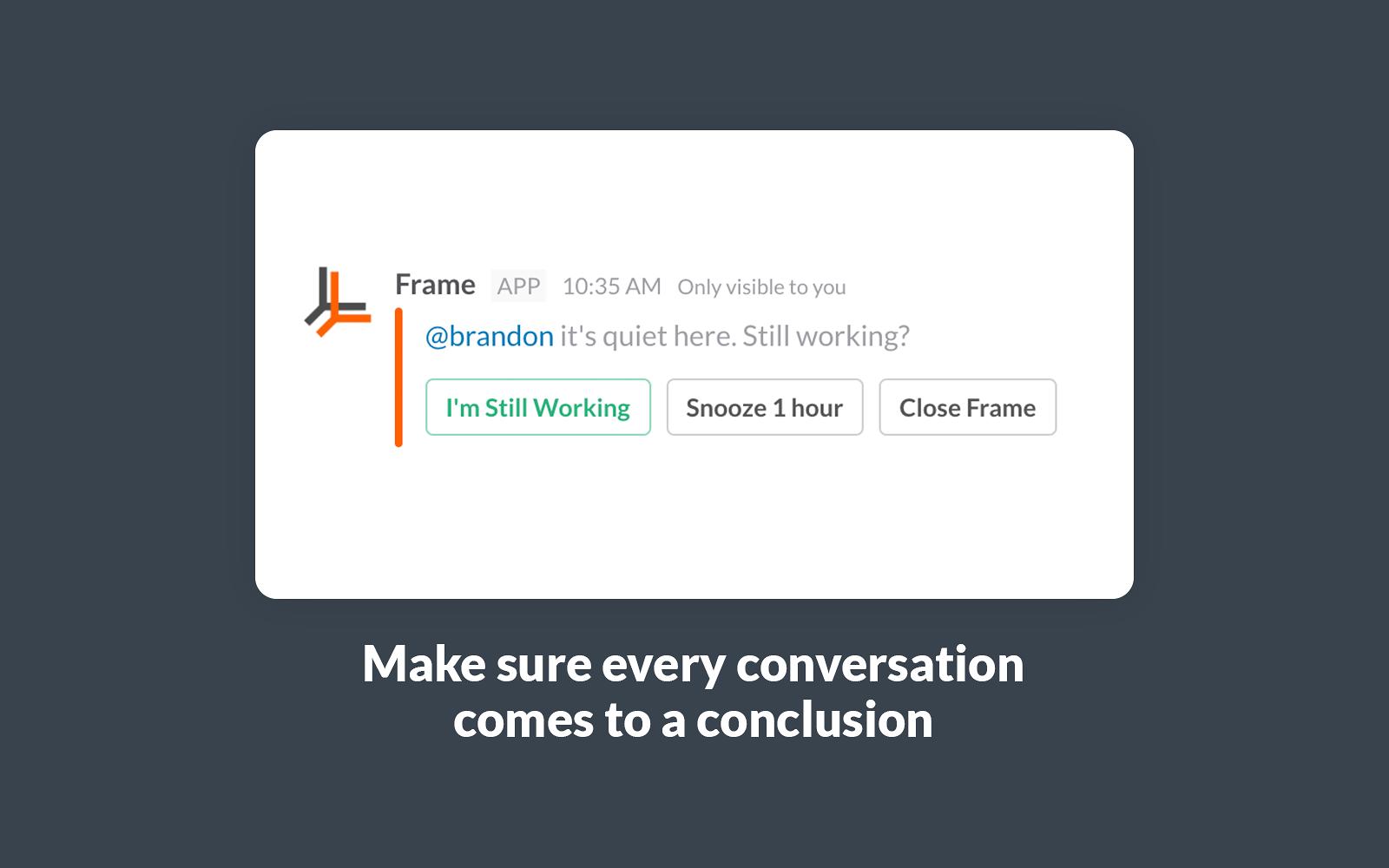 Frame | Slack App Directory