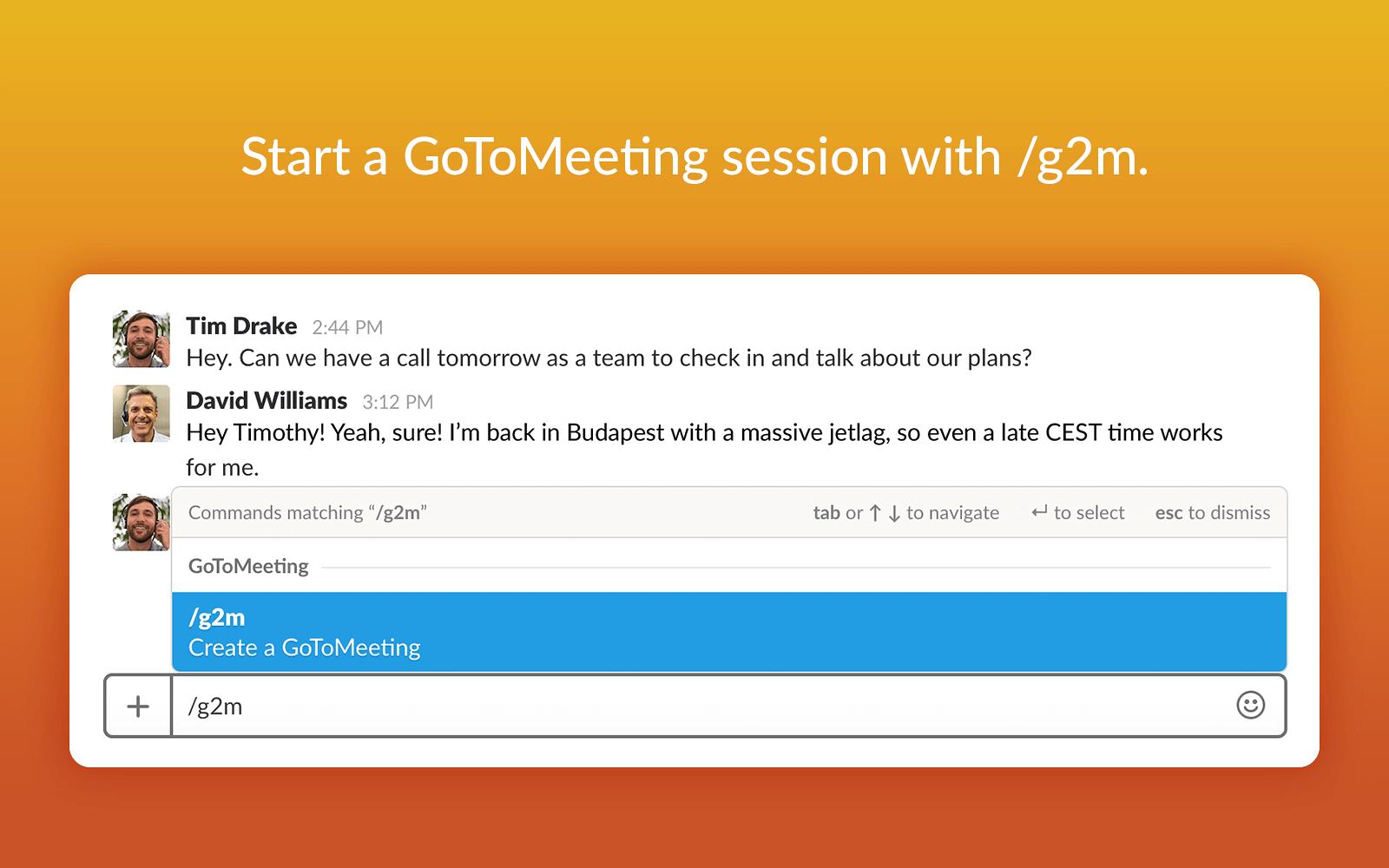GoToMeeting | Slack App Directory