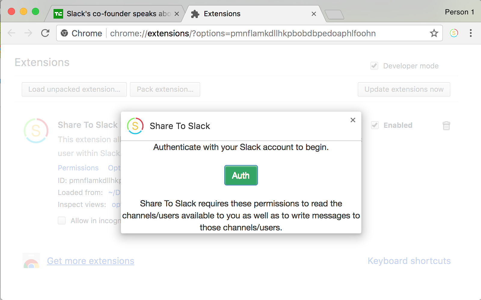 Share To Slack Chrome Extension | Slack App Directory