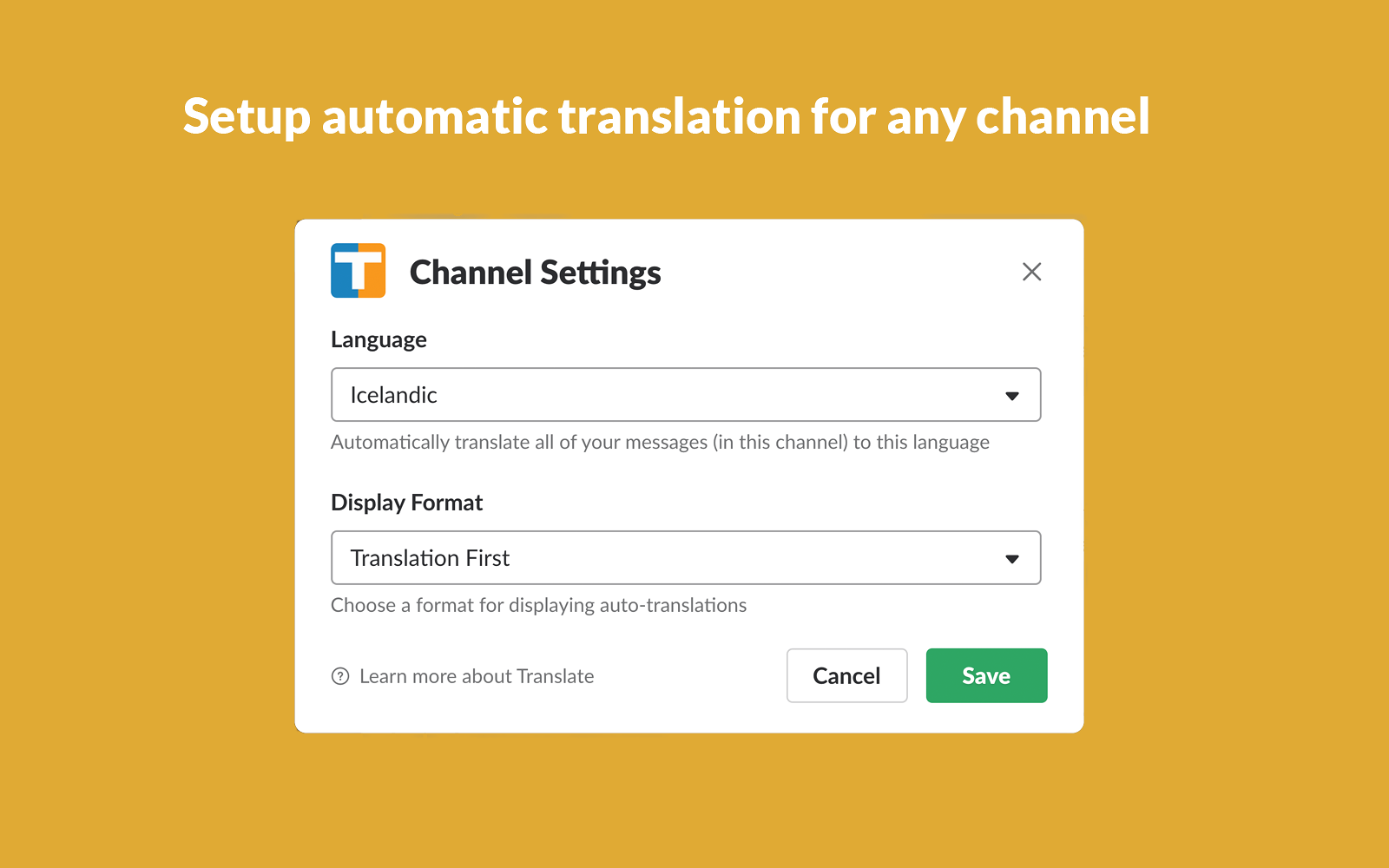 Translate | Slack App Directory