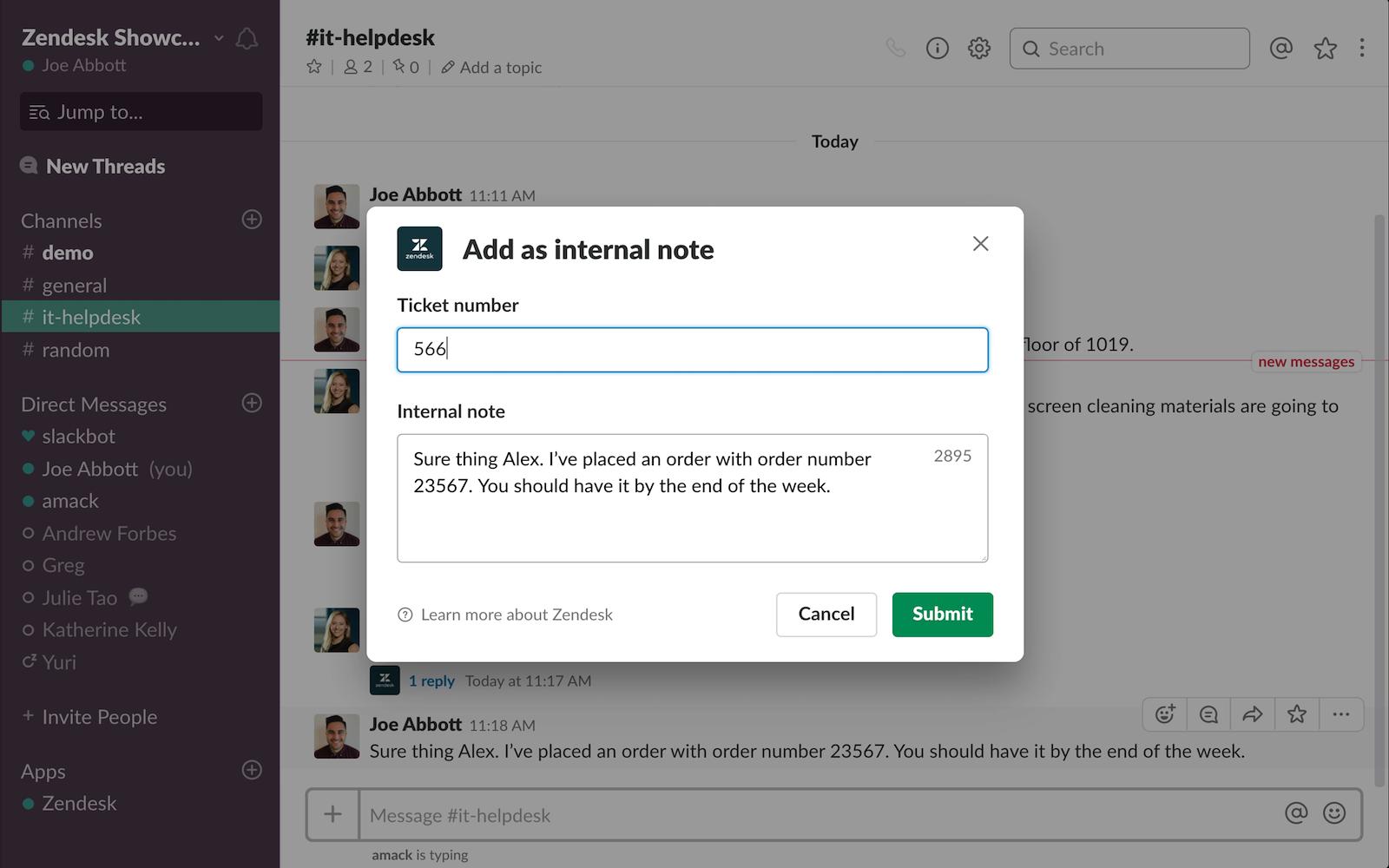 Zendesk | Slack App Directory