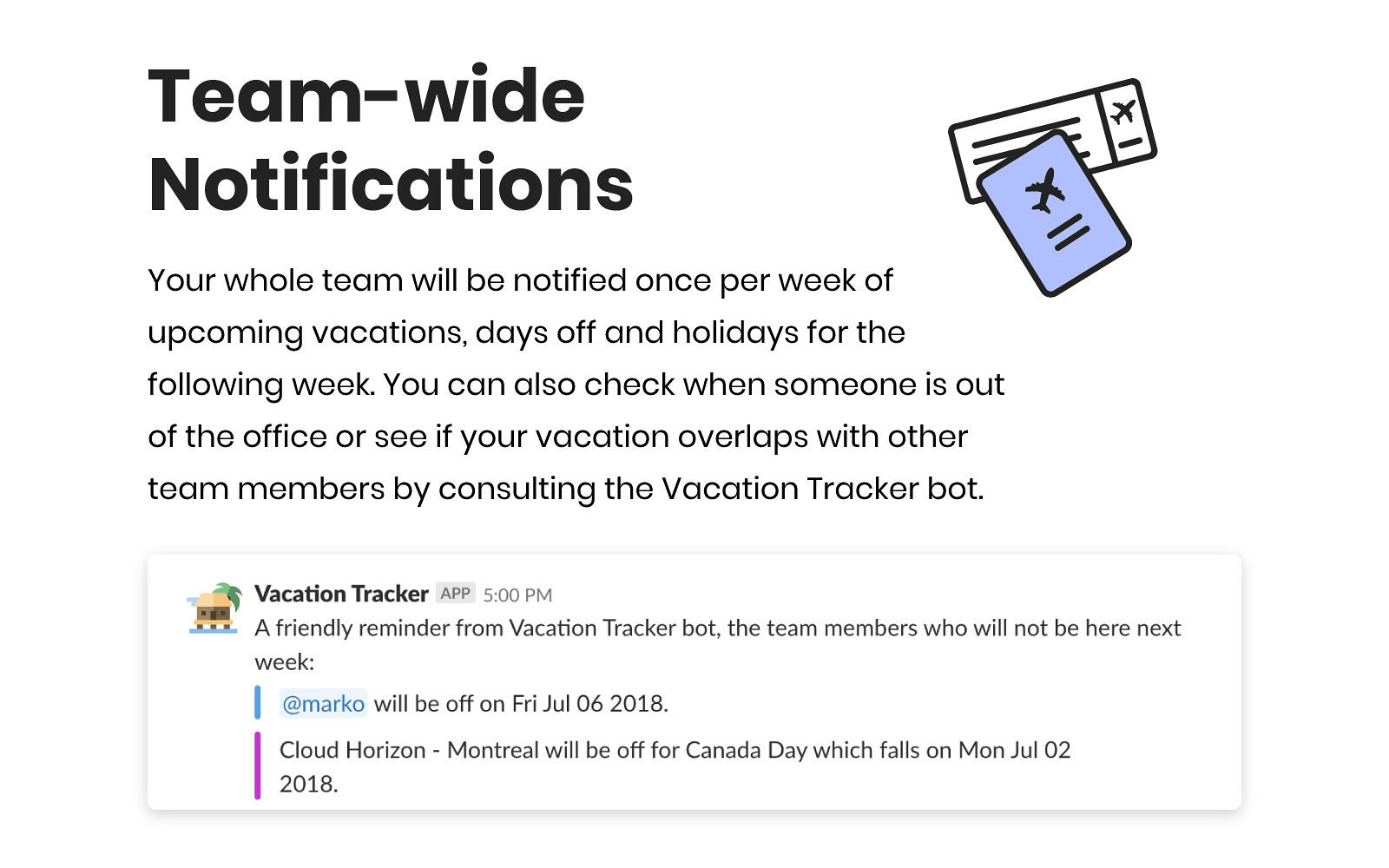 vacation tracker slack app directory