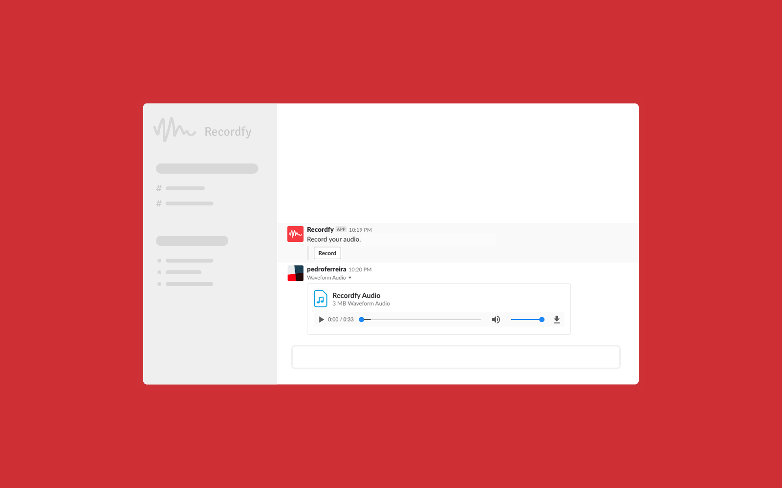 Recordfy | Slack App Directory
