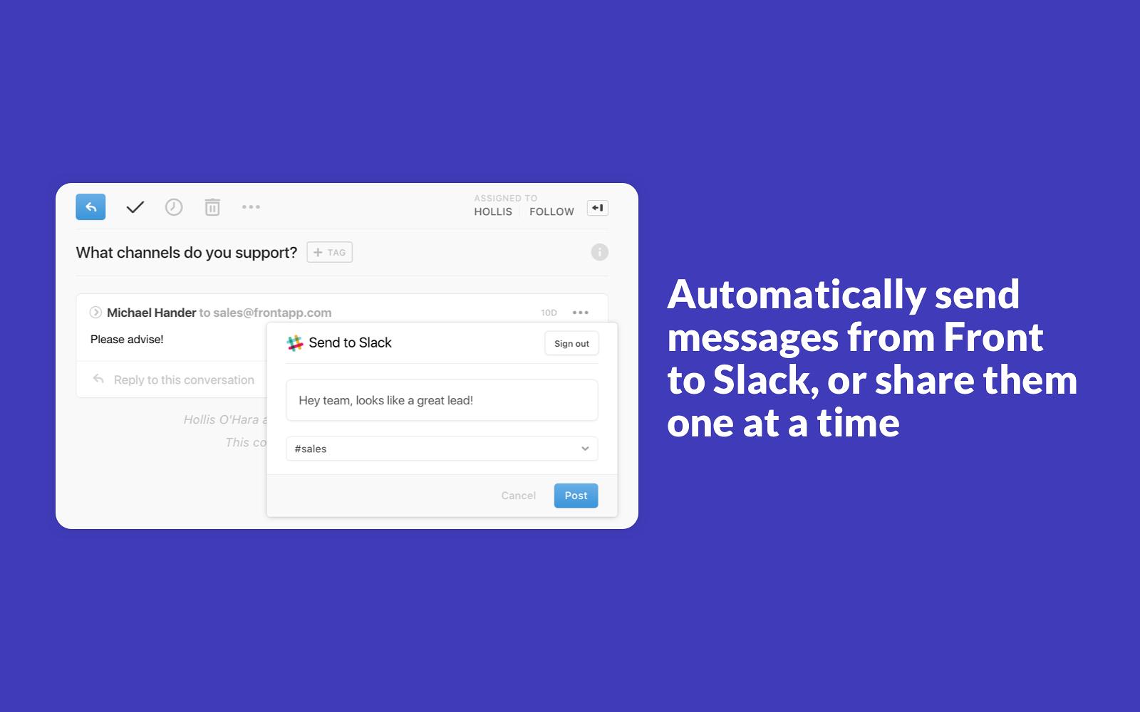 Front | Slack App Directory