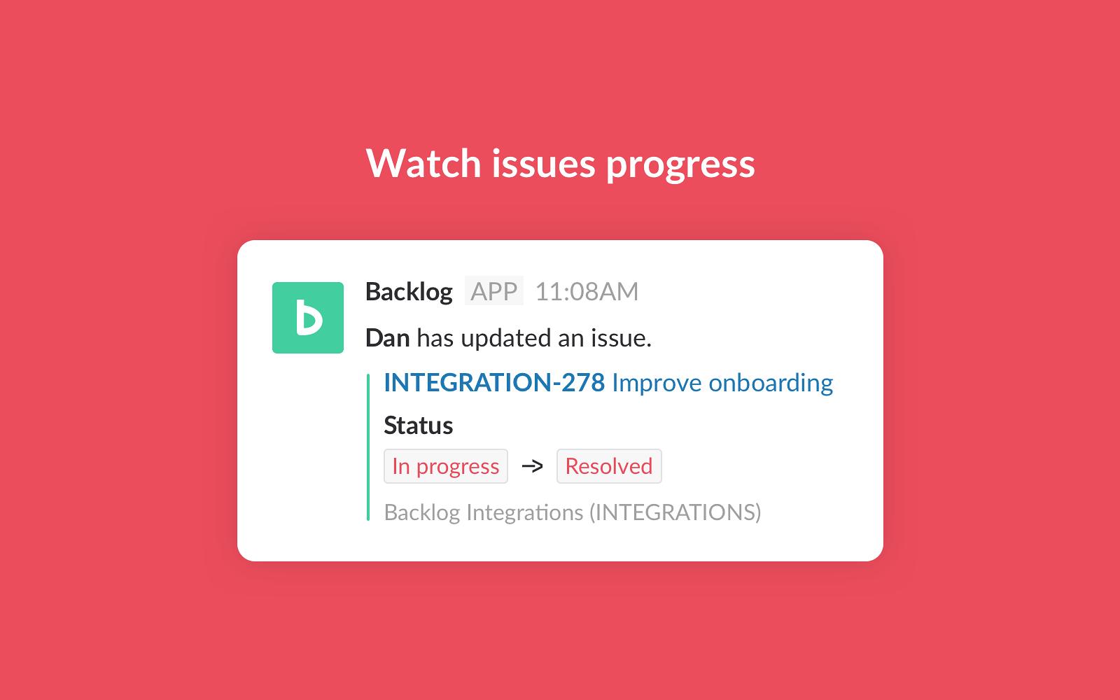 Backlog   Slack App Directory