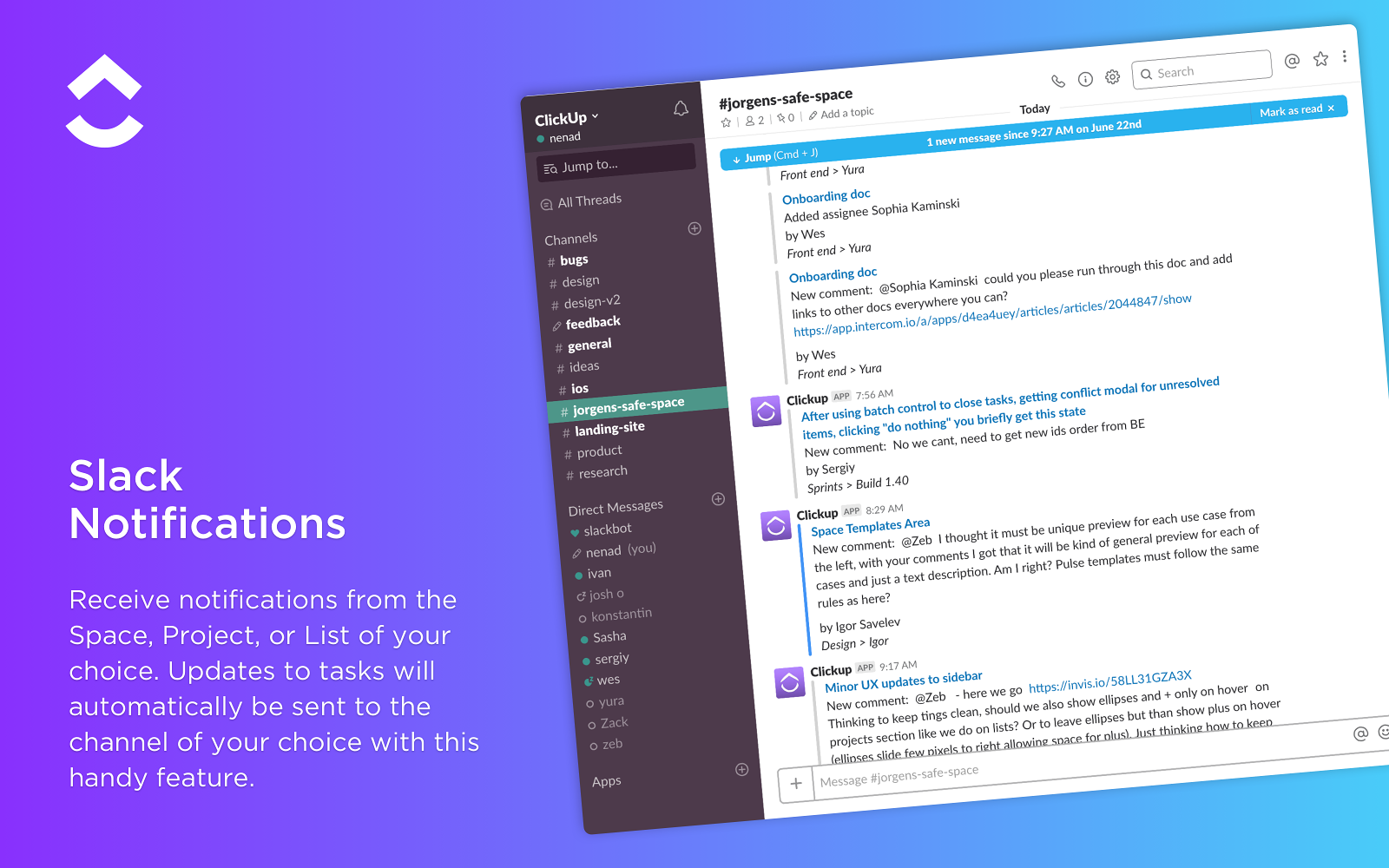 ClickUp | Slack App Directory