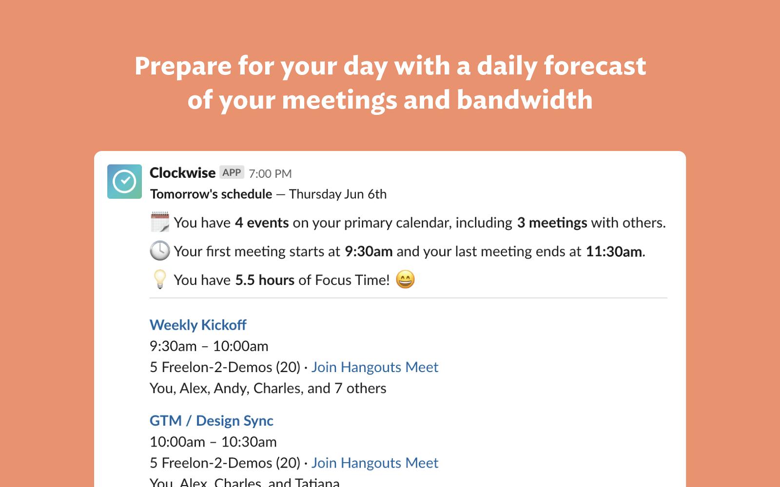 Clockwise | Slack App Directory