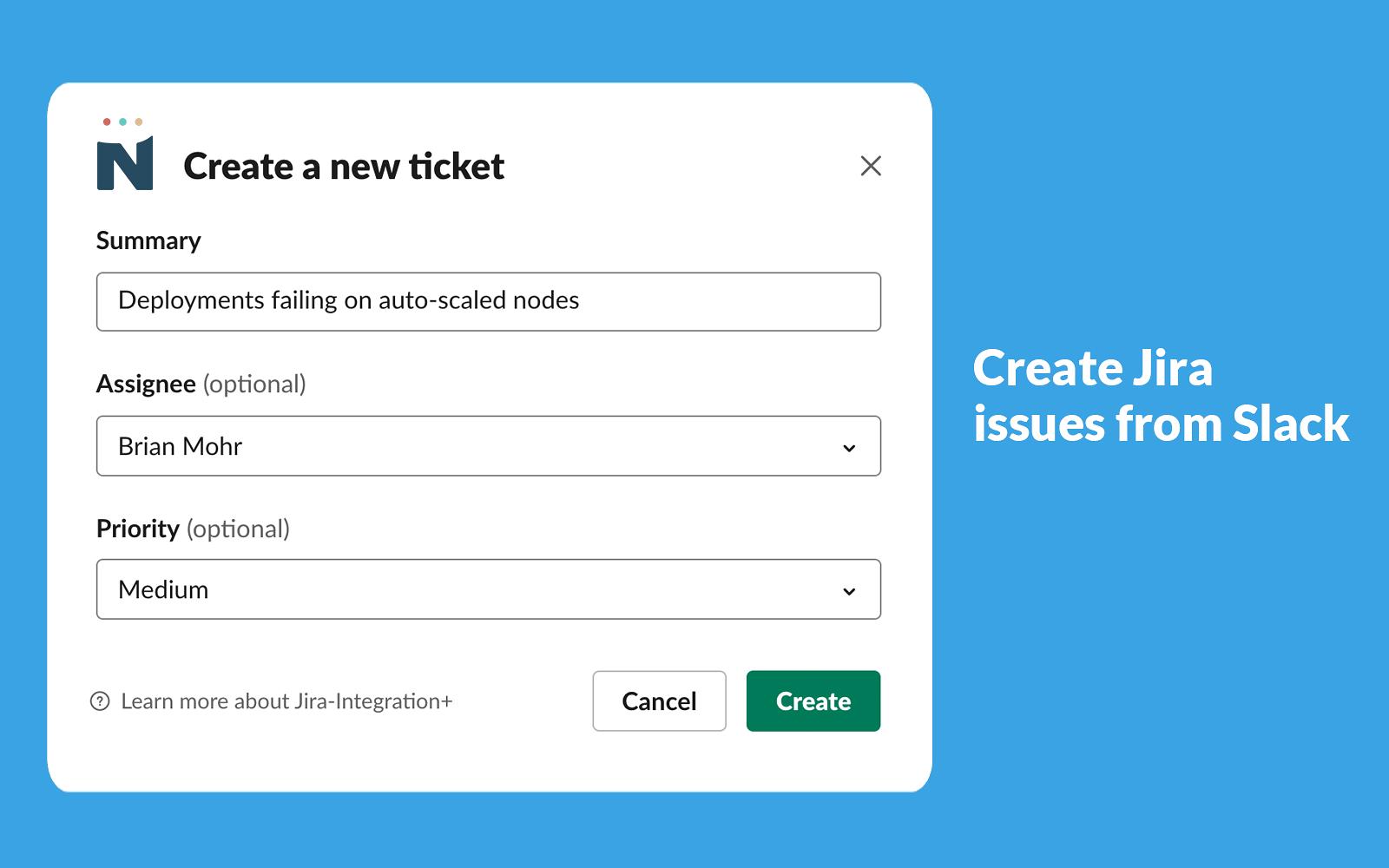 Jira-Integration+ | Slack App Directory