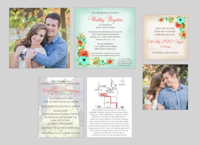 utah wedding invitations watkins wedding printing inserts 2 side - Wedding Invitations Utah