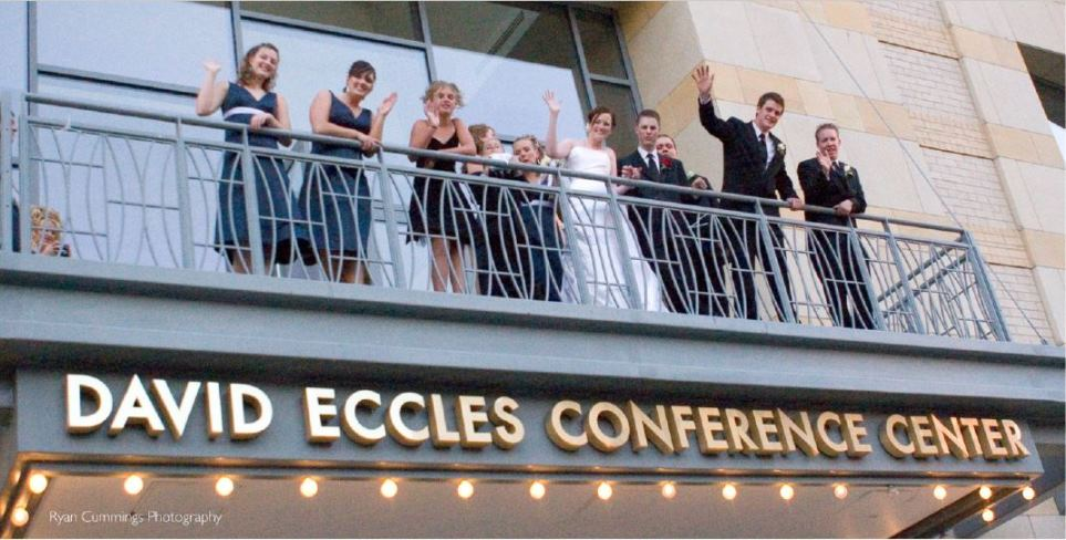 Utah wedding venue Ogden Eccles Conference Center balcony