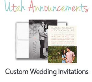 utah announcements wedding invitations