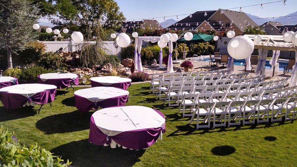 Utah weddings decorations rentals i do decor backyard wedding utah weddings decorations rentals i do decor backyard wedding junglespirit Gallery