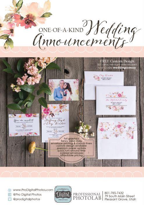 Pro Digital Photos Salt Lake Utah Wedding Invitations Salt Lake Bride