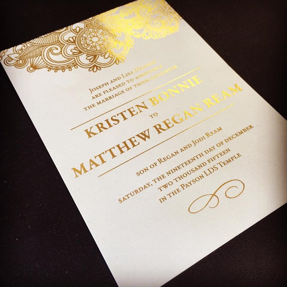 Utah Wedding Invitations  Beautiful Wedding Announcements Foil Invitation