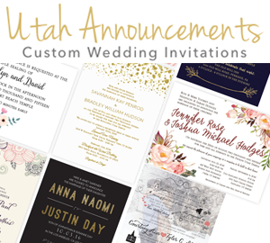 Utah Announcements Wedding Invitations 300x270