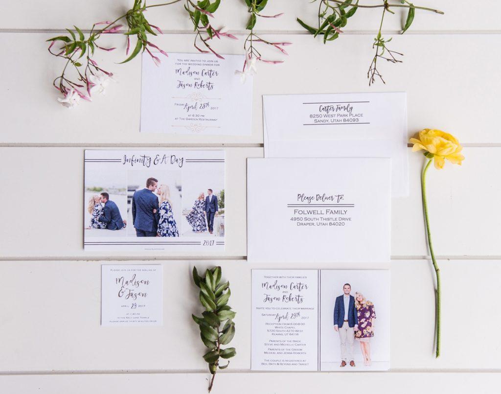Utah Wedding Invitations - Pro Digital Photos - Salt Lake Bride