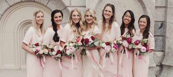 Utah-wedding-gowns-The-Bride-Room-bride-with-bridesmaids