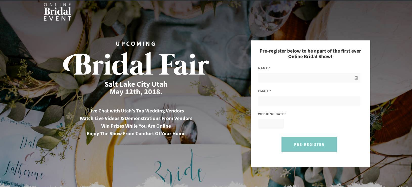 Utah-Online-Bridal-Event