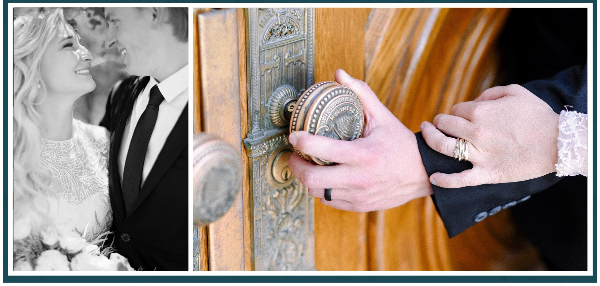 A-Truckers-Love-bride-and-groom-and-temple-door-knob