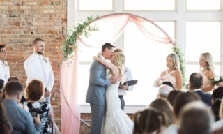 Ogden-Utah-Wedding-Venue-The-Fifth-Floor-bride-and-groom-kissing