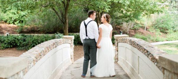 Utah-Wedding-Venue-Memorial-House-in-Memory-Grove-Park-Bride-and-groom-at-bridge-by-Callie-Hobbs