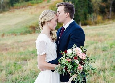 Maroon-Pale-Pink-and-Cream-wedding-colors-bride-and-groom