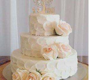 a 3-tier, elegant cake