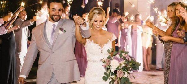 Utah Valley Wedding Venue Noahs Event Venue-Lindon bride and groom exit