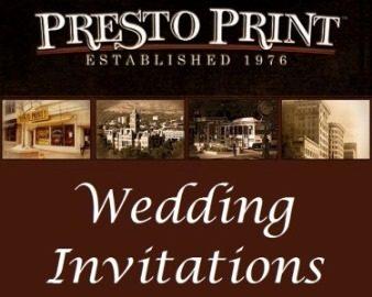 Salt Lake City Utah wedding invitations and announcements Presto Print