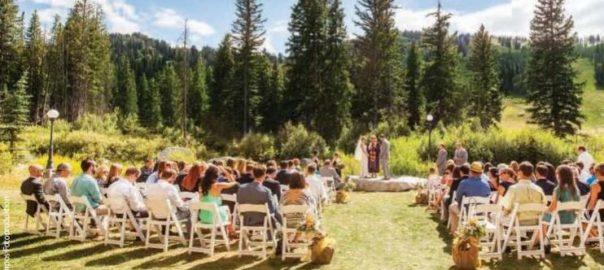 Utah Wedding Venue Solitude Mountain Resort mountain wedding ceremony